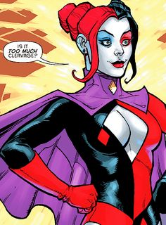 """""""Is it too much cleavage?"""" (Harley Quinn #11)"""