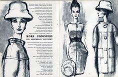 Balenciaga & Hubert de Givenchy 1960 Hats, Suits, Drawings Falk, 6 Pages Article