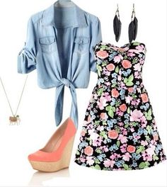 I love the floral dress <3