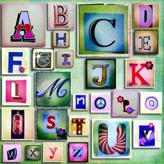 Hipsta Alphabet Art Print