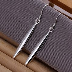 925 silver plated earings needlelike -- Check out this great product. Note:It is Affiliate Link to Amazon.