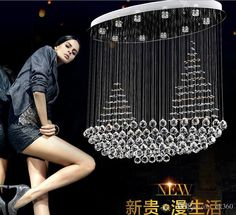 2015 Luxury Bright Crystal Flushmount Chandeliers Modern Ceiling Lamps Lighting K9 Crystal Pendant Lamp K9 Crystal Suspensions Lamps Online with $348.61/Piece on Ok360's Store | DHgate.com