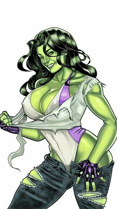 "Sexy, strong and green: Jennifer Walters ""She-Hulk""! She-Hulk color Marvel Vs, Marvel Women, Marvel Girls, Comics Girls, Marvel Dc Comics, Marvel Heroes, Comic Book Heroines, Comic Book Characters, Marvel Characters"