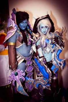 Sylvanas Windrunner and Tamuura Cosplay. Cosplay by Rachael Davis and Shona Harvey. Photo by Jeff Watkins Photography