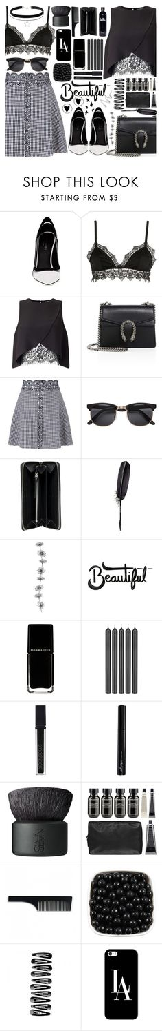 """""""The best way to pay for a lovely moment is to enjoy it."""" by xcuteniallx ❤ liked on Polyvore featuring Greymer, Ermanno Scervino Lingerie, Miss Selfridge, Gucci, H&M, Balenciaga, Maison Margiela, Tom Dixon, Smashbox and Antonym"""