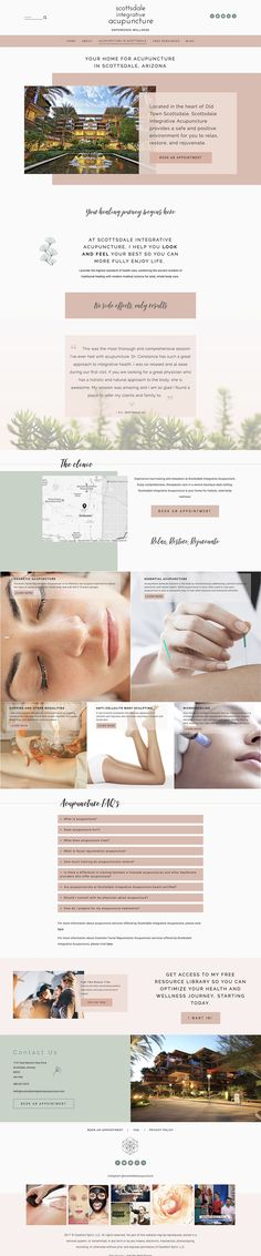 Services page design | Squarespace web design for acupunture studio | Jodi Neufeld Design