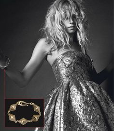 Paris Vogue Magazine 2013. Featuring the Dendera Pyramid Bracelet. http://www.lhnjewelry.com/collections/womens/products/dendera-pyramid-bracelet