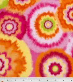 pink orange green fleece