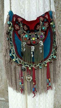 Handmade Velvet Fringe Bag Gypsy Hippie Boho Hobo Ibiza Festival Purse tmyers in Clothing, Shoes Accessories, Womens Handbags Bags, Handbags Purses Boho Hippie, Hippie Style, Gypsy Style, Boho Gypsy, Dark Bohemian, Bohemian Style, Hippy Chic, Boho Chic, Fashion Bags