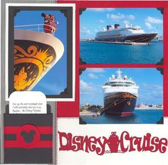 Journaling on pocket card reads: One of the most beautiful sites I will probably ever see in my lifetime…the Disney Wonder. I will always remember the sound of the kids squealing with delight as we approa Cruise Scrapbook Pages, Vacation Scrapbook, Kids Scrapbook, Scrapbooking Layouts, Disney Vacations, Disney Trips, Vacation Trips, Disney Halloween Cruise, Disney Cruise Line