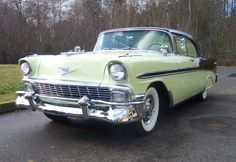 1956 chevy bel air. in mint chocolate chip apparently!