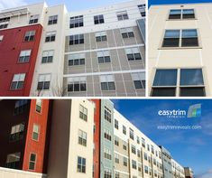 When your building design calls for multiple colors of fiber cement panel, why not tie them all together with a subtle clear anodized aluminum trim...   Check out this project in Boston, MA, featuring a clear anodized finish that really ties both the color choices as well as the different material finishes together - and it looks great at any angle! Panel Systems, In Boston, Condominium, Building Design, Contemporary, Modern, Cement, Choices, Ties