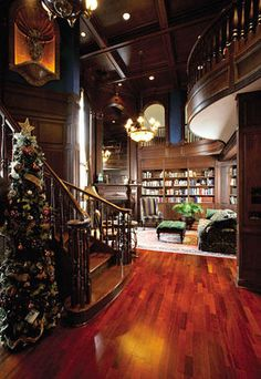 Home Library - as seen on HGTV's Million Dollar Rooms (Cortland, OH) - This is my dream home library :D Future House, My House, Million Dollar Rooms, Mega Mansions, Home Libraries, My Living Room, House Rooms, Interiores Design, My Dream Home