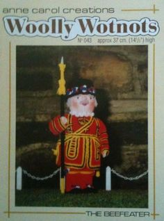 Woolly Wotnots Toy Knitting Pattern no The Beefeater [Pamphlet] [Jan Anne Carol Creations Jean Greenhowe, Stuffed Toys Patterns, Handmade Toys, Kids Toys, Knitting Patterns, Baseball Cards, Crafts, Ebay, Collection