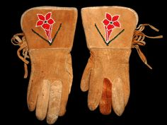 vintage native american beaded gloves