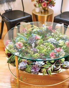 Küchen Design, Home Design, Design Ideas, Interior Design, Home Crafts, Easy Crafts, Diy Home, Terrarium Table, Succulent Terrarium