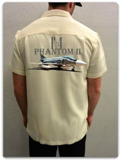 Men's Airplane Shirt-F-4 Phantom II-The McDonnell Douglas F-4 Phantom II- the Super Demon- is a tandem, two-seat, twin-engine, all-weather, long-range supersonic jet interceptor fighter/fighter-bomber originally developed for the United States Navy and made its maiden flight in 1958. A classic Vietnam War fighter!