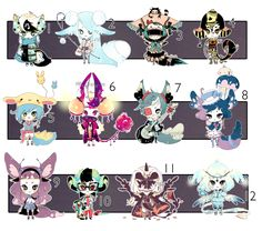 [CLOSED] ADOPT 24 - Multiple adopt by Piffi-adoptables on deviantART