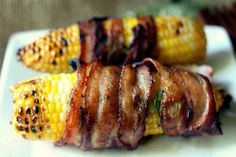 Bacon-wrapped Corn On The Cob Will Be Your Go-to Grill Recipe This Summer