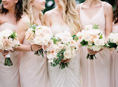 Photography : When He Found Her   Bridesmaids Dresses : Monique Lhuillier   Wedding Dress : JLM Couture   Event Planning, Event Design + Floral Design : Forever Wildfield Read More on SMP: http://www.stylemepretty.com/canada-weddings/ontario/niagara-on-the-lake-ontario/2016/05/20/summer-vineyard-wedding/