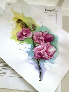 Watercolor orchidee tattoo design....almost there!!!!
