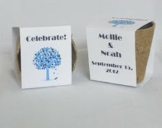 Wedding Favor Plantable Seed Cups