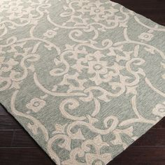 @Overstock - Hand hooked from 100-percent polypropylene, this rug features a contemporary design with a medium pile. This rug is available in a vibrant color palette.http://www.overstock.com/Home-Garden/Hand-hooked-Galveston-Green-Rug/7492250/product.html?CID=214117 $95.99