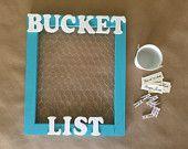 Your Bucket List Framed