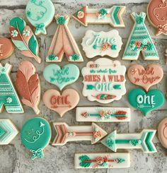 Such a fun first birthday theme! First Birthday Cookies, First Birthday Themes, Baby Girl First Birthday, First Birthdays, Birthday Ideas, Crazy Cookies, Cute Cookies, How To Make Cookies, Cupcake Cookies