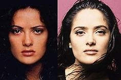 Salma Hayek before and after plastic surgery
