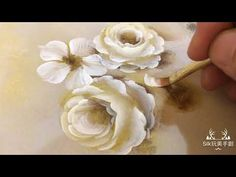 One Stroke Painting, Painting Videos, Painting Lessons, Tole Painting, Canvas Crafts, Rose, Diy And Crafts, Watercolor, Creative