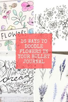 Drawing Doodle Easy Time to up your doodling skills! Find out how easy it is to doodle flowers like a pro! - Take your doodles to the next level with these step by step tutorials of how to draw flower doodles and other fun things in your Bullet Journal! Bullet Journal Spread, Bullet Journal Ideas Pages, Bullet Journal Inspiration, Bullet Journals, Flower Doodles, Doodle Flowers, Draw Flowers, Sharpie Art, Sharpie Doodles