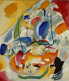 I saw this Kandinsky painting at the MoMa in 1989.  I found myself staring at it for 20 minutes.  Improvisation 31 (sea Battle).