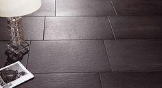 Baldocer | Tubs & Tiles - bathroom and tile design ideas - I didn't expect to like any darker tiles, but I like these ones. Tub Tile, Tile Floor, Tile Showroom, Bathroom Taps, Kitchen Tiles, New Builds, Tile Design, Tubs, Design Ideas