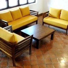 Wood sofa set & Simple, beautiful and functional; today presented examples of furniture made with teak wood. We encourage you& The post Affordable and Nice Wood Sofa Set appeared first on Home Decorations. Home Decor Ideas, Home Decor Furniture, Sofa Furniture, Furniture Removal, Wooden Furniture, Luxury Furniture, Outdoor Furniture, Sofa Bed Design, Living Room Sofa Design