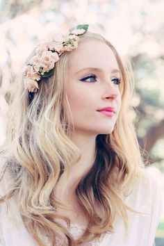 flower headpiece, bridal headpiece, wedding flower crown, flower for hair, rose flower headband OOAK