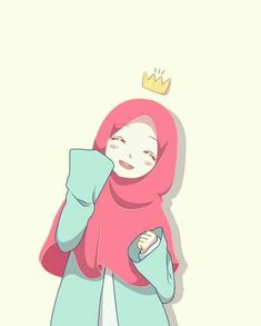 Aiming and goal with what you're doing Cartoon Kunst, Cartoon Art, Cute Cartoon, Anime Chibi, Kawaii Anime, Anime Manga, Girly Drawings, Cartoon Drawings, Hijab Drawing
