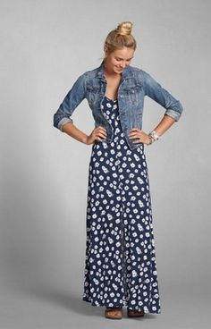 Brunch on The Patio - Let the Dress take the lead and pair a Denim Jacket on top for unexpectedly chilly morning temps.