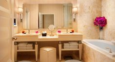 The Wynn Las Vegas Deluxe Resort Bathroom suite. For more information, speak to one of our Vacation Specialists at 1-888-685-6888.