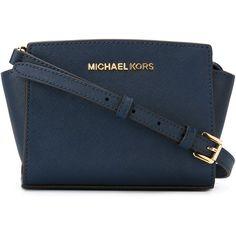 Michael Michael Kors Selma Mini Messenger Bag (610 ILS) ❤ liked on Polyvore featuring bags, messenger bags, navy, navy blue bag, navy crossbody bag, mini cross body bag, mini crossbody and mini messenger bag