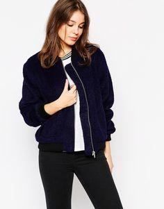Glamorous Furry Bomber Jacket