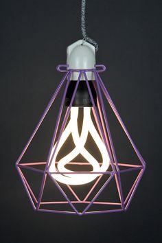 Empirical Style Modern Dandy Purple DIamond Cage Pendant Light_6425 Cage Pendant Light, Purple Diamond, Dandy, Bathroom, Girls, Modern, Home Decor, Style, Washroom