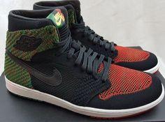 6d54012788f4ff Nike Air Jordan 1 Retro High Flyknit BHM Black Red Green AA2426-026 Size  10.5  Nike  BasketballShoes
