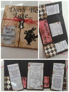 DIY Alice in wonderland party invitations, www.HealthVG.com ... This pin is popular! Lovely. #HealthEveryday