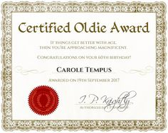 Award Certificate Template - make an award certificate in 10 seconds using this FREE online certificate maker Funny 50th Birthday Quotes, 50th Birthday Gag Gifts, 60th Birthday, Birthday Ideas, Barney Birthday, Birthday Humorous, Birthday Sayings, Birthday Crafts, Husband Birthday