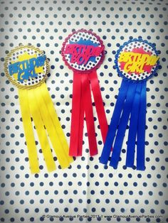 Awards at a Superhero Party!  See more party ideas at CatchMyParty.com!  #partyideas #superhero