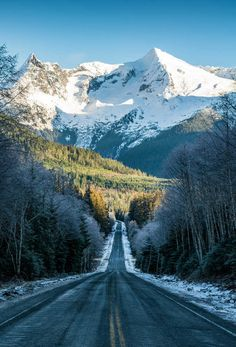 Winter road. Near Juneau, Alaska.