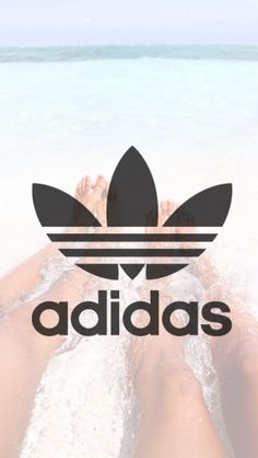 Adidas wallpaper; feet in water