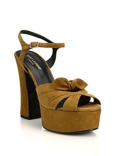Saint Laurent - Candy Suede Platform Sandals (=)