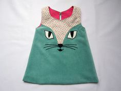Cat Dress in Turquoise - Costumini